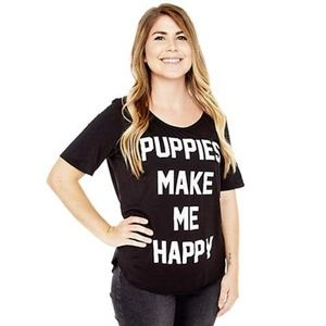 Puppies Make Me Happy - T-shirt